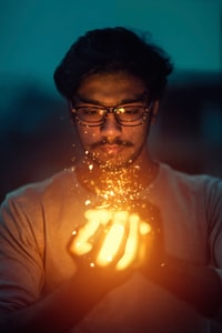 person doing magic
